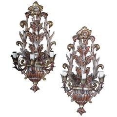 20th Century Pair of Venetian Wall Sconces, Italy