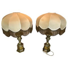 20th Century Pair of Vintage Italian Brass Table Lamp