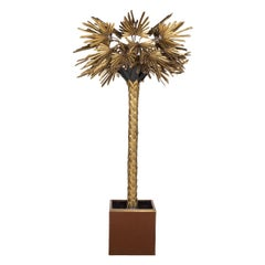 20th Century Palm Tree Floor Lamp by Maison Jansen, France, circa 1970