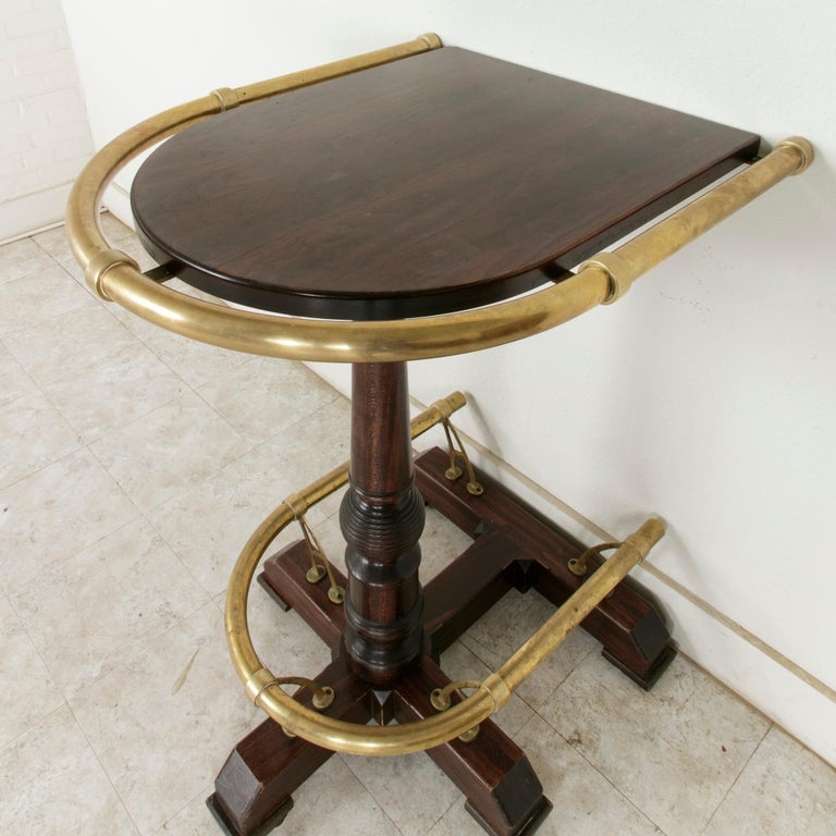 High Tables For Sale: 20th Century Paris Brasserie High Top Table With Brass