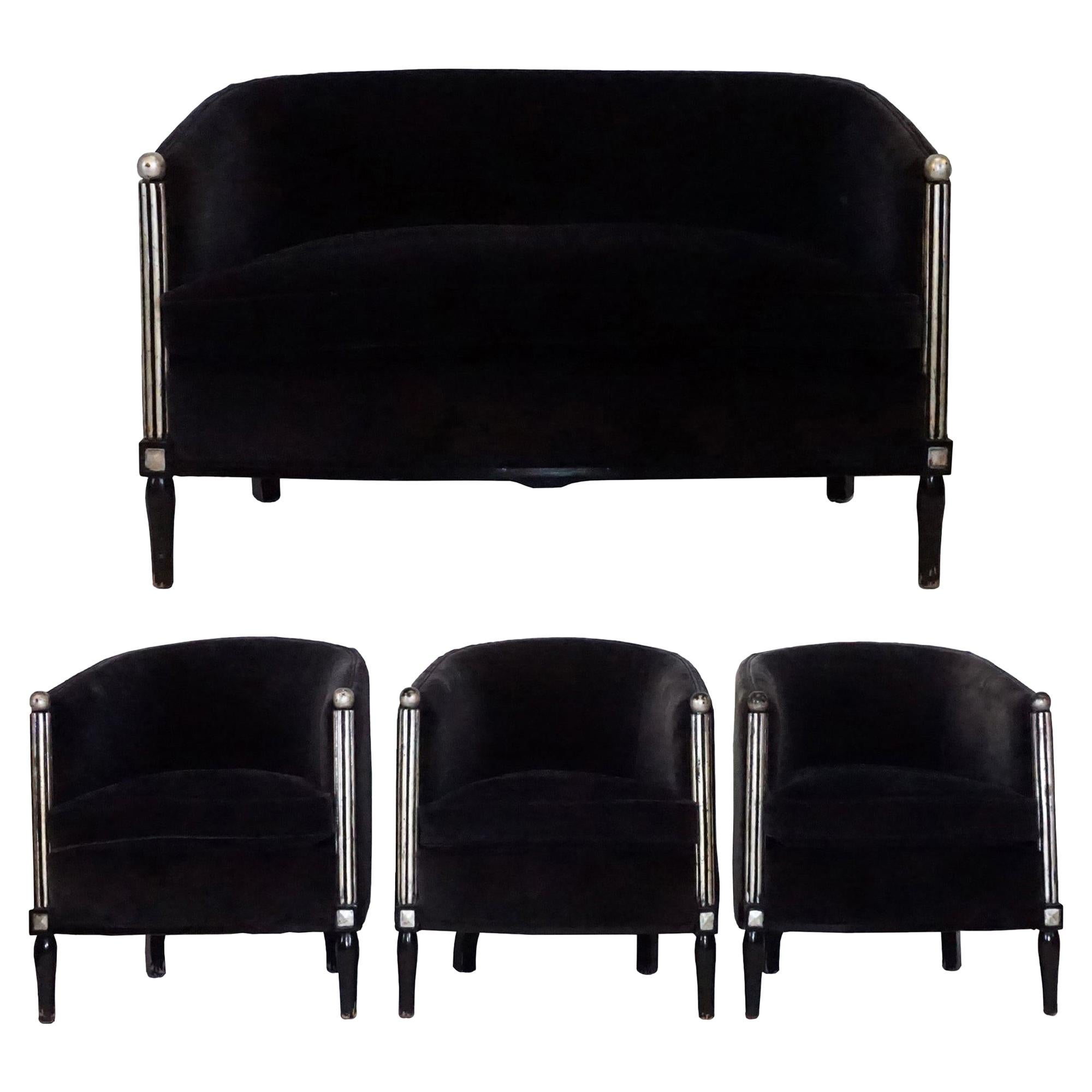 20th Century Parisian Art Deco Living Room Set