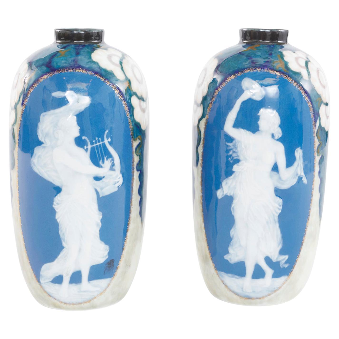 20th Century Pate-Sur-Pate Decorative Vases