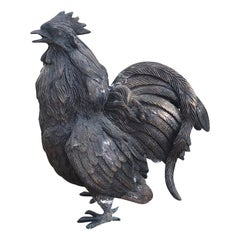 20th Century Patinated Bronze Gamecock / Chicken