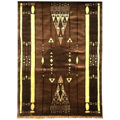 20th Century Peking Style Gaba Brown Rug