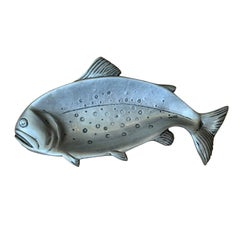 20th Century Pewter Trout Serving Tray