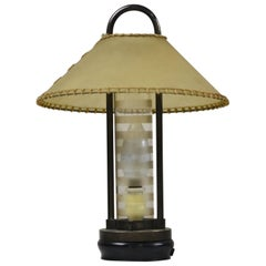 20th Century Pietro Chiesa Table Lamp for Fontana Arte in Metal and Crystal