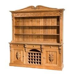 20th Century Pine Dresser and Rack