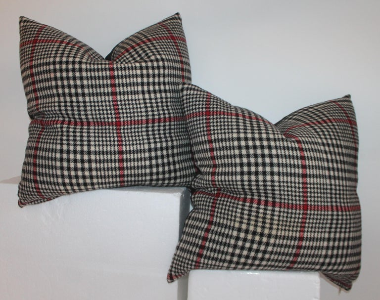 20th Century Plaid Pillows, Set of Four In Good Condition For Sale In Los Angeles, CA