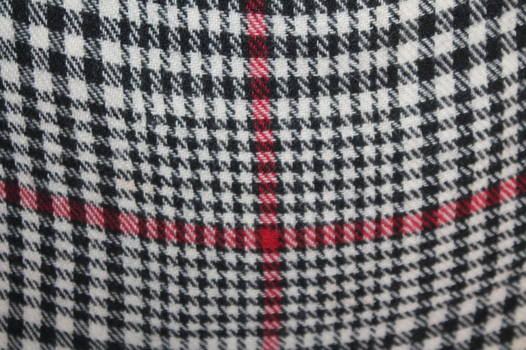 Wool 20th Century Plaid Pillows, Set of Four For Sale