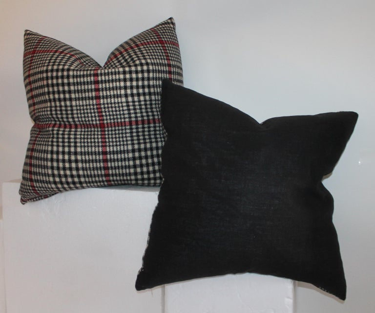 20th Century Plaid Pillows, Set of Four For Sale 1