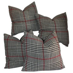 20th Century Plaid Pillows, Set of Four