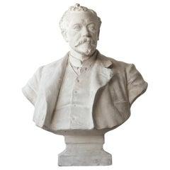 20th Century Plaster Bust of a Gentlemen