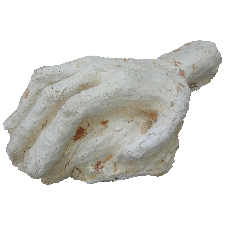 20th Century Plaster Hand Sculpture