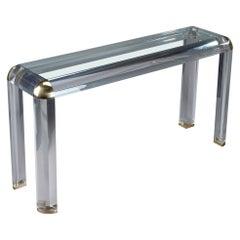 20th Century Plexiglass Console Table by Romeo, Paris