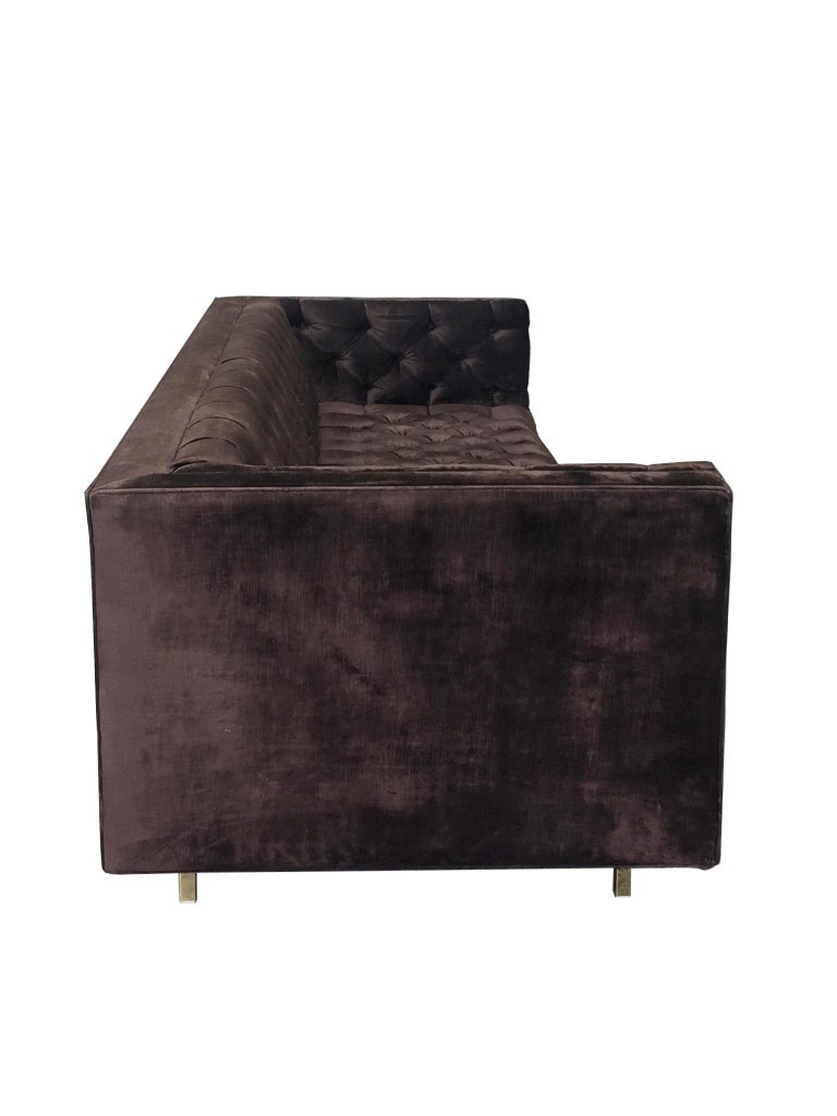 20th Century Plum Velvet Chesterfield Sofa For Sale 1
