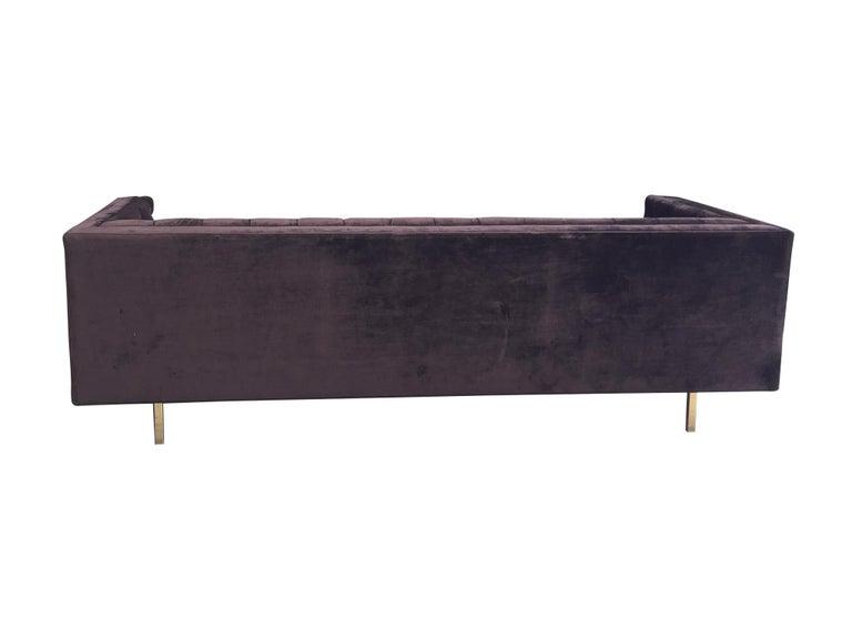 20th Century Plum Velvet Chesterfield Sofa For Sale 2