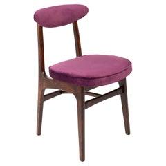 20th Century Plum Violet Velvet Rajmund Halas Chair, 1960s