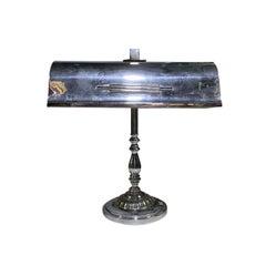 20th Century Polished Steel Desk Lamp