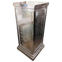 20th Century Polished Steel Pedestal