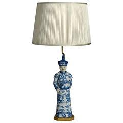 20th Century Porcelain Lamp
