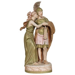 20th Century Porcelain Sculpture Group Neoclassical Couple in Love by Royal Dux