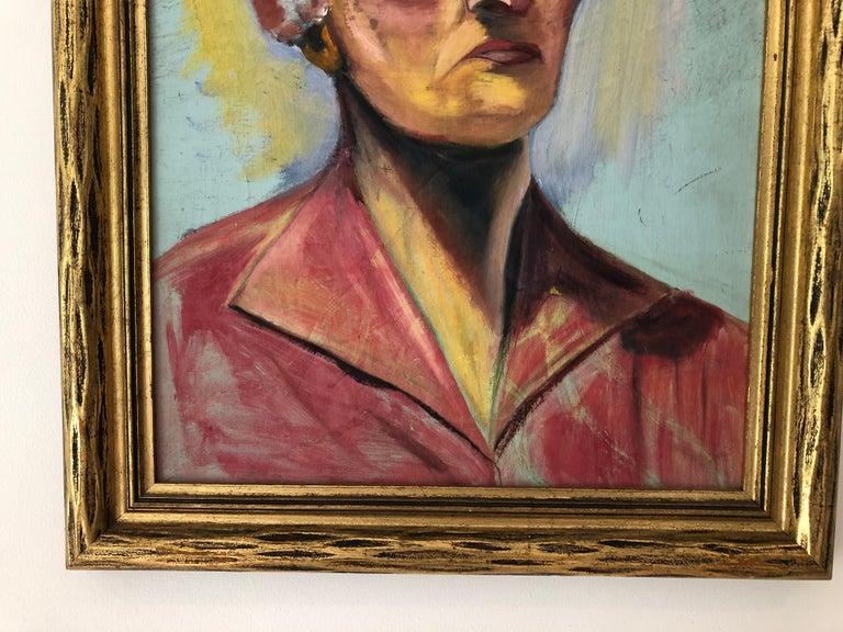 Gilt 20th Century Portrait of a Woman For Sale