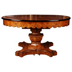20th Century Princely Extendable Dinner Table in Biedermeier Style