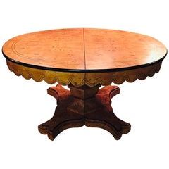 20th Century Princely Extendable Dinner Table in Biedermeier Style