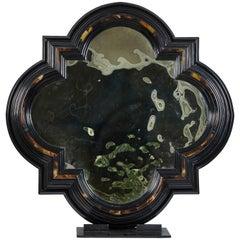 20th Century Quatrefoil Faux Shell Mirror