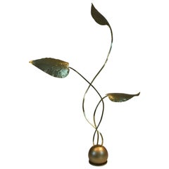 20th Century Rare Brass Floor Lamp by Tommaso Barbi, 1970s