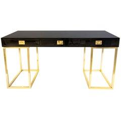 20th Century Rare Guy Lefevre Lacquer Desk for Maison Jansen