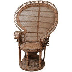 "20th Century Rattan/Wicker Peacock ""Emanuelle"" Chair"