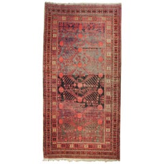 20th Century Red and Brown Pomegranate Kothan Handmade Rug, circa 1900