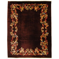 20th Century Red-Violet Wool from China Art Deco Nichols Rug, 1920-1940