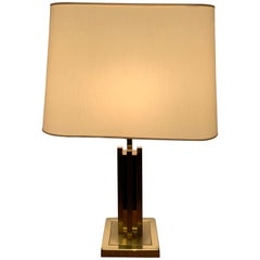 20th Century Regency Gold Silver Table Lamp by Willy Rizzo for Lumica, 1980s