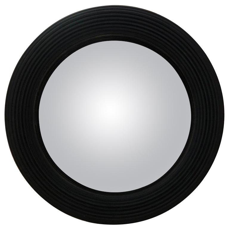 20th Century Regency Reeded Convex Mirror