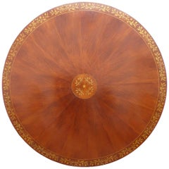 20th Century Regency Style Mahogany Round Dining Table