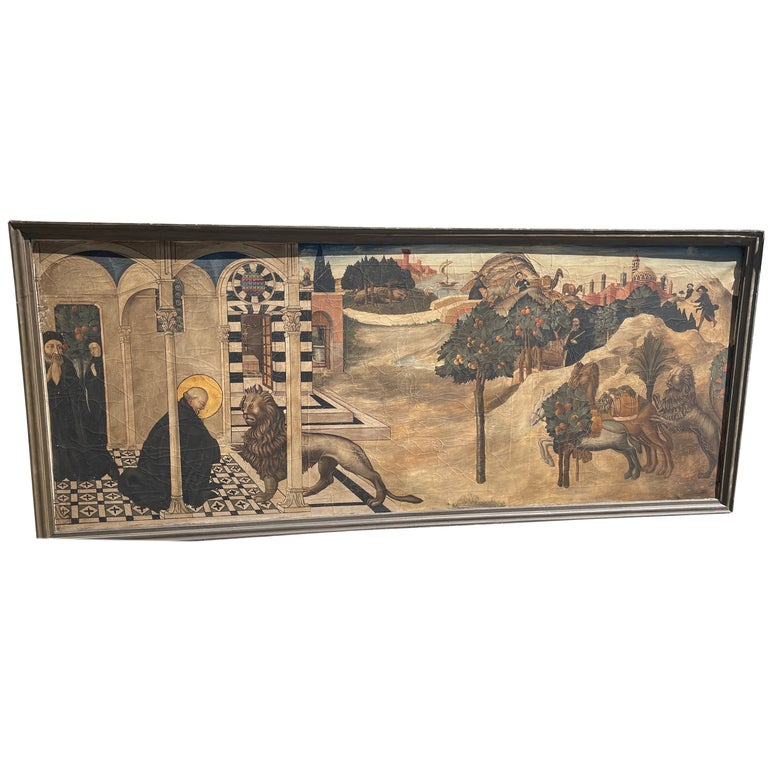 20th Century Renaissance Painting Oil on Canvas Sano di Pietro, 1900s For Sale