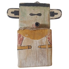 20th Century Replica of a Hopi Kachina Doll, Handmade and Painted Cottonwood