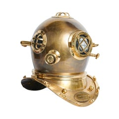 20th Century, Reproduction American Mark V Navy Bronze/ Brass Diving Helmet