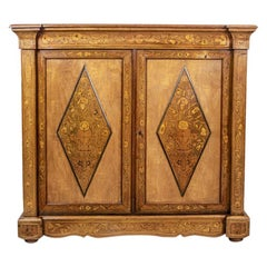 20th Century Richly Inlaid Cabinet