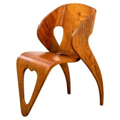 20th Century Roberto Gabetti and Mario Roggero Wood Chair End of '40s