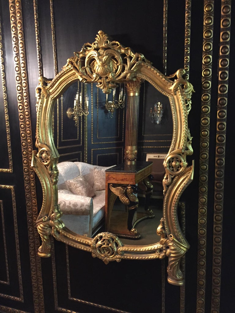 French 20th Century Rococo Wall-Mirror For Sale