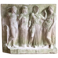20th Century Roman Relief in Plaster from the NY Carlsberg Glyptotek