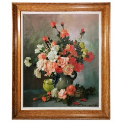 20th Century Romantic French Oil on Canvas Painting