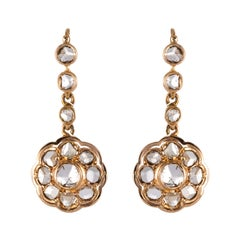 18k Gold Dangle Earrings
