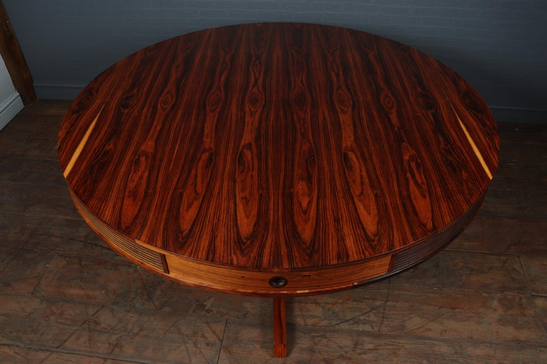 Mid-Century Modern 20th Century Rosewood Drum Table by Robert Heritage for Archie Shine For Sale