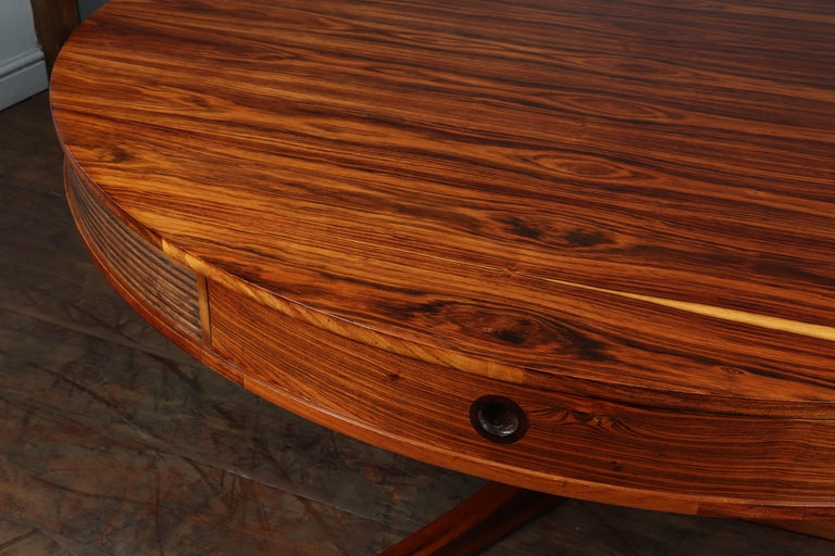 British 20th Century Rosewood Drum Table by Robert Heritage for Archie Shine For Sale