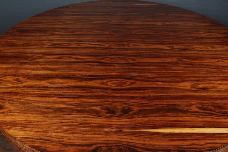 Veneer 20th Century Rosewood Drum Table by Robert Heritage for Archie Shine For Sale
