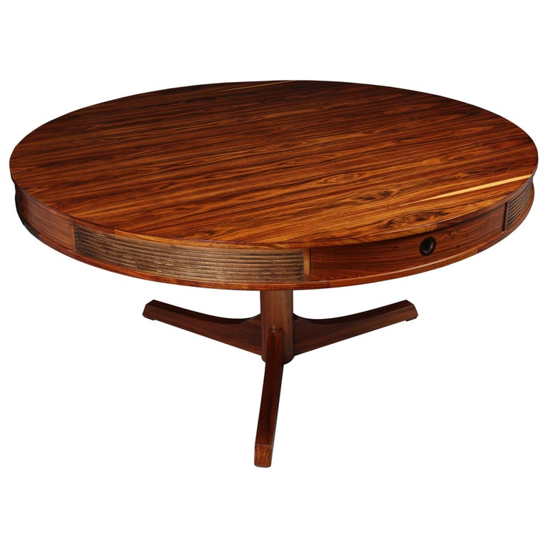 20th Century Rosewood Drum Table by Robert Heritage for Archie Shine For Sale